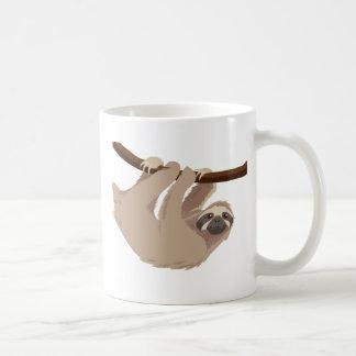 Pereza tocada con la punta del pie tres taza de café