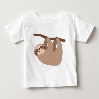 Pereza Tres-Tocada con la punta del pie linda Playera Para Bebé