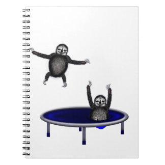 perezas trampolining note book