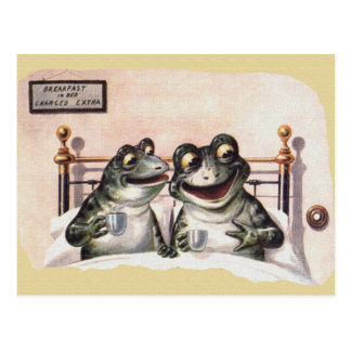 Perezoso el domingo por la mañana tarjetas postales