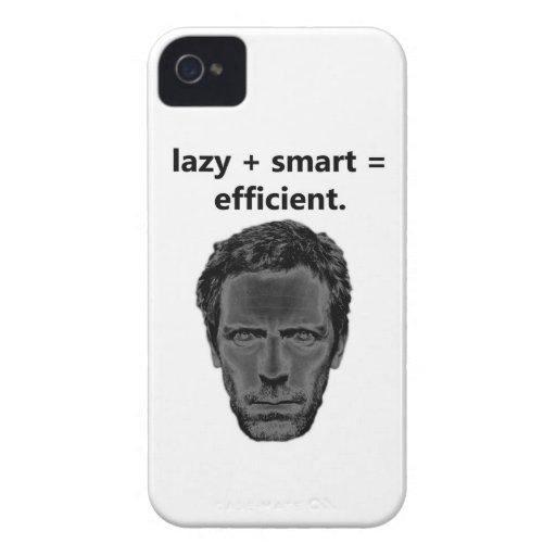 perezoso + elegante = eficiente iPhone 4 carcasas