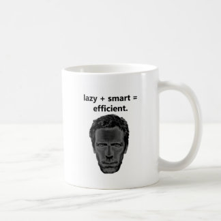 perezoso + elegante = eficiente taza básica blanca