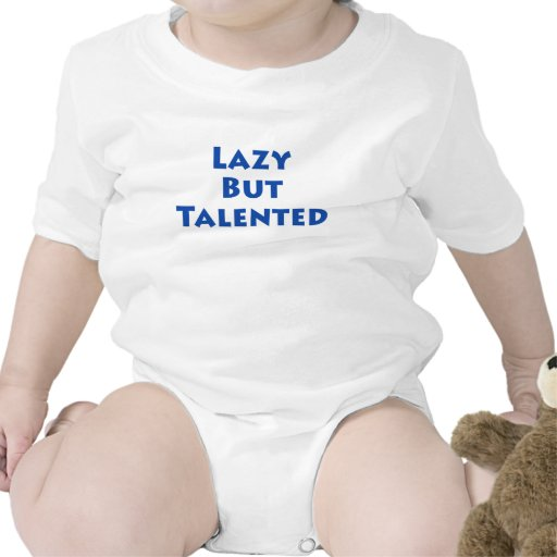 Perezoso pero talentoso traje de bebé