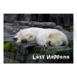 Perezoso sucede el oso polar tarjeta de felicitación