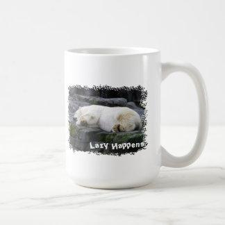 Perezoso sucede el oso polar taza clásica