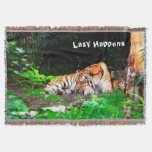 Perezoso sucede el tigre siberiano manta