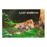 Perezoso sucede el tigre siberiano impresiones en madera