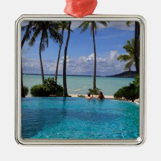 Perfct Infinity pool on Vanilla Iceland Metal Ornament