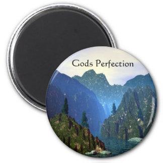 Perfección de dioses imán redondo 5 cm