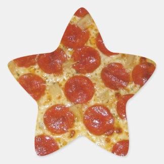 Perfección de los salchichones pegatina en forma de estrella