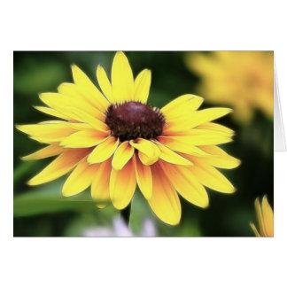 Perfección del jardín - Susan observada negro Felicitaciones