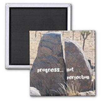 Perfección del progreso no imán cuadrado