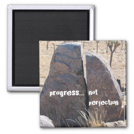 Perfección del progreso no imán para frigorifico