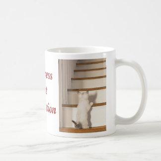 Perfección del progreso no taza de café