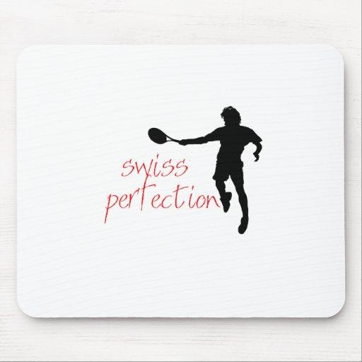 Perfección del suizo de la camiseta de Federer Alfombrillas De Ratones