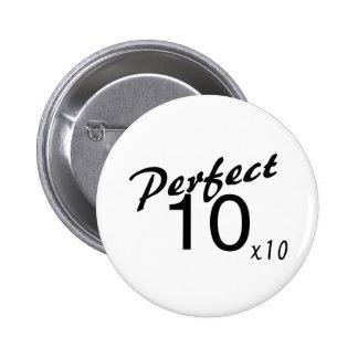 Perfeccione 10 x10 pin redondo de 2 pulgadas