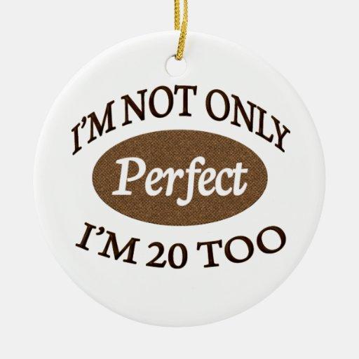 Perfeccione 20 años ornamento para arbol de navidad