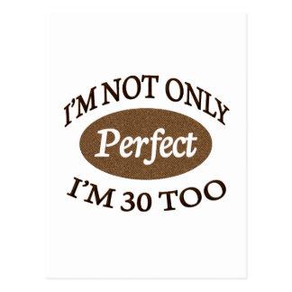 Perfeccione 30 años postales