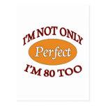 Perfeccione 80 años postales