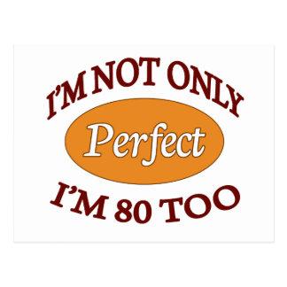 Perfeccione 80 años postal