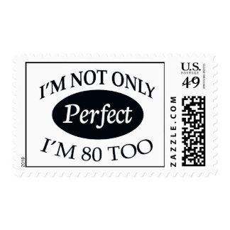 Perfeccione 80 timbre postal
