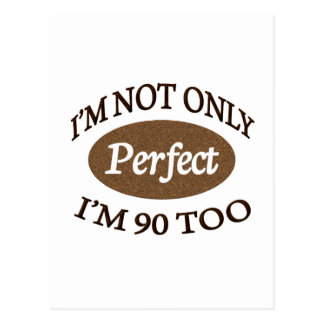 Perfeccione 90 años postales