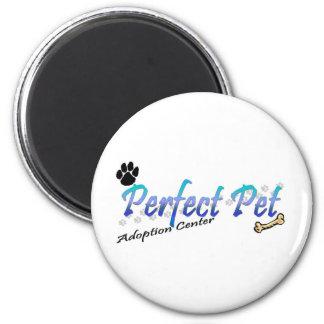 Perfeccione el centro de la adopción del mascota imán redondo 5 cm