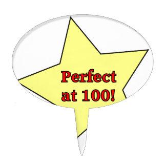 ¡Perfeccione en 100! Decoración De Tarta