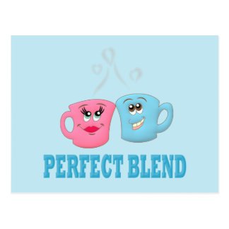 Perfeccione las tazas de café de la mezcla postal