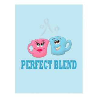 Perfeccione las tazas de café de la mezcla tarjetas postales