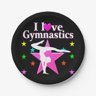 PERFECT 10 GYMNAST PAPER PLATE