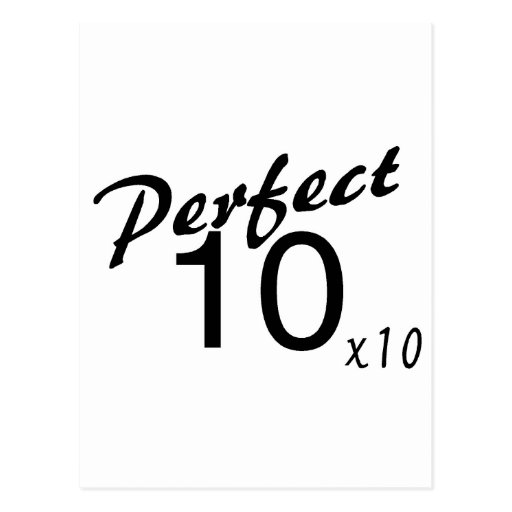 Perfect 10 x10 post card