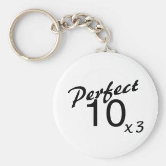 Perfect 10 x3 keychain