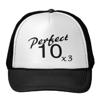Perfect 10 x3 trucker hat