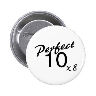 Perfect 10 x8 2 inch round button