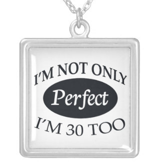 Perfect 30 silver plated necklace