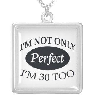 Perfect 30 square pendant necklace