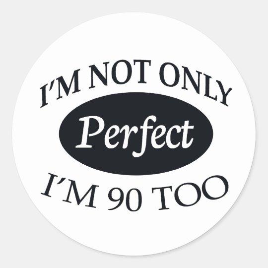 Perfect 90 classic round sticker