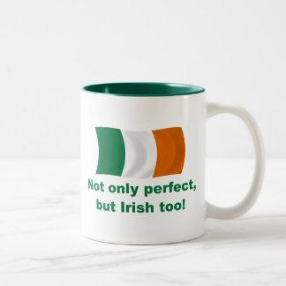 Perfect and Irish Two-Tone Coffee Mug