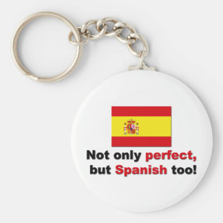 Perfect and Spanish Basic Round Button Keychain