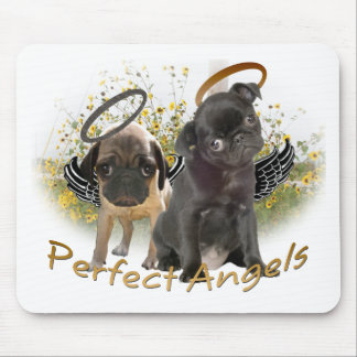 Perfect Angel Pugs Mouse Mat