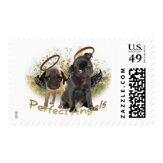 Perfect Angel Pugs Postage Stamps
