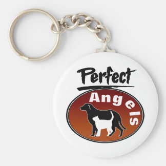 Perfect Angels Basic Round Button Keychain