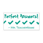 """[ Thumbnail: """"Perfect Answers!"""" Grading Rubber Stamp ]"""