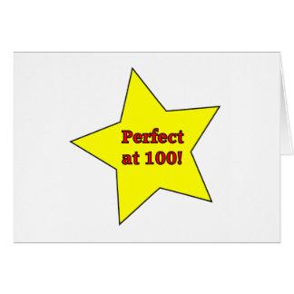 Perfect at 100! greeting card
