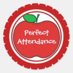 perfect attendance sticker