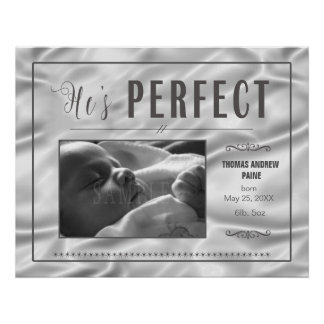 Perfect Baby Boy Satin Template PBXS Poster