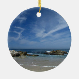 Perfect Beach Double-Sided Ceramic Round Christmas Ornament