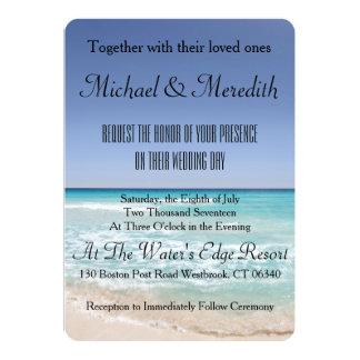 Perfect Beach Wedding Invitation