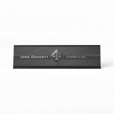 Perfect Black | ATTORNEY AT LAW Desk Name Plate